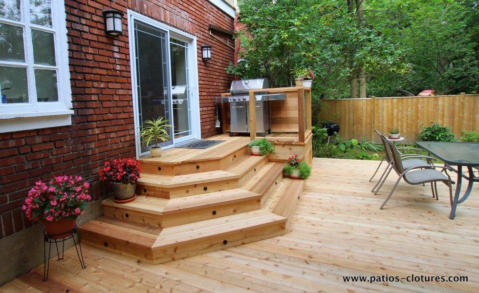 patio avec escalier à angles Johnskareng