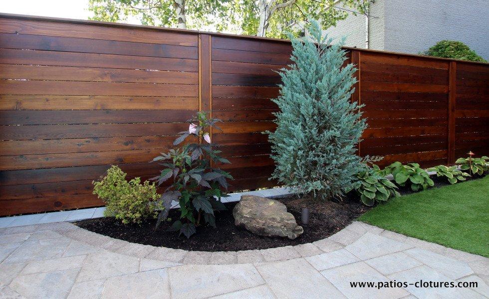Clôture horizontale en bois de cèdre Émond