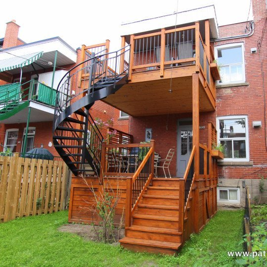 Video of a two-story deck Baril