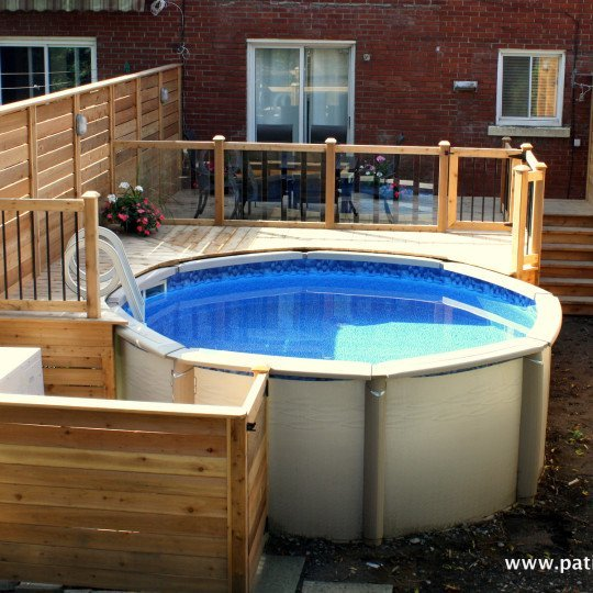 Patio de piscine hors terre Verret 2