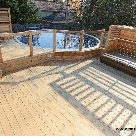 patio de piscine hors terre Brunelle 1