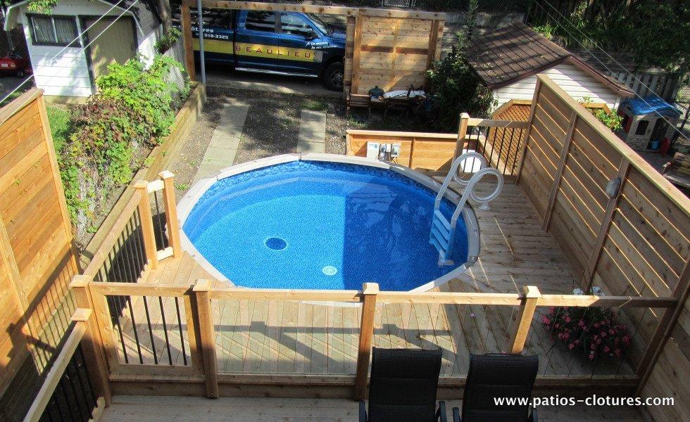 Patio de piscine hors terre Verret 1
