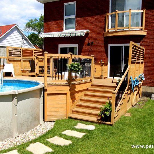 Patio et deck de piscine hors terre La France